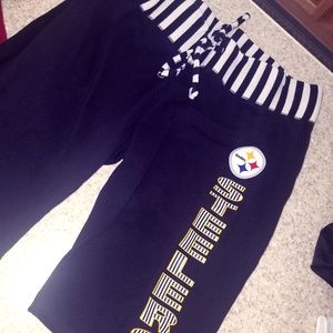 NFL STEELERS pants, never worn, womens Large